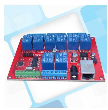 Livraison gratuite!!! Contrôleur de module de commutateur de réseau de relais Ethernet de 55 pièces 8 canaux pour déplacer le module de bouton local de TCPUDP de retard se