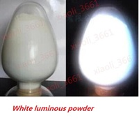 Free shipping White Glowing White color luminous powder phosphor pigment Noctilucent Powder Glow in Dark Dust Powder 30/lot