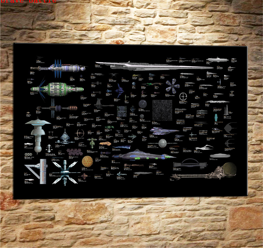 Us 5 1 49 Off Star Trek The Space Of Ships Canvas Painting Print Living Room Home Decor Modern Wall Art Oil Painting Poster In Painting