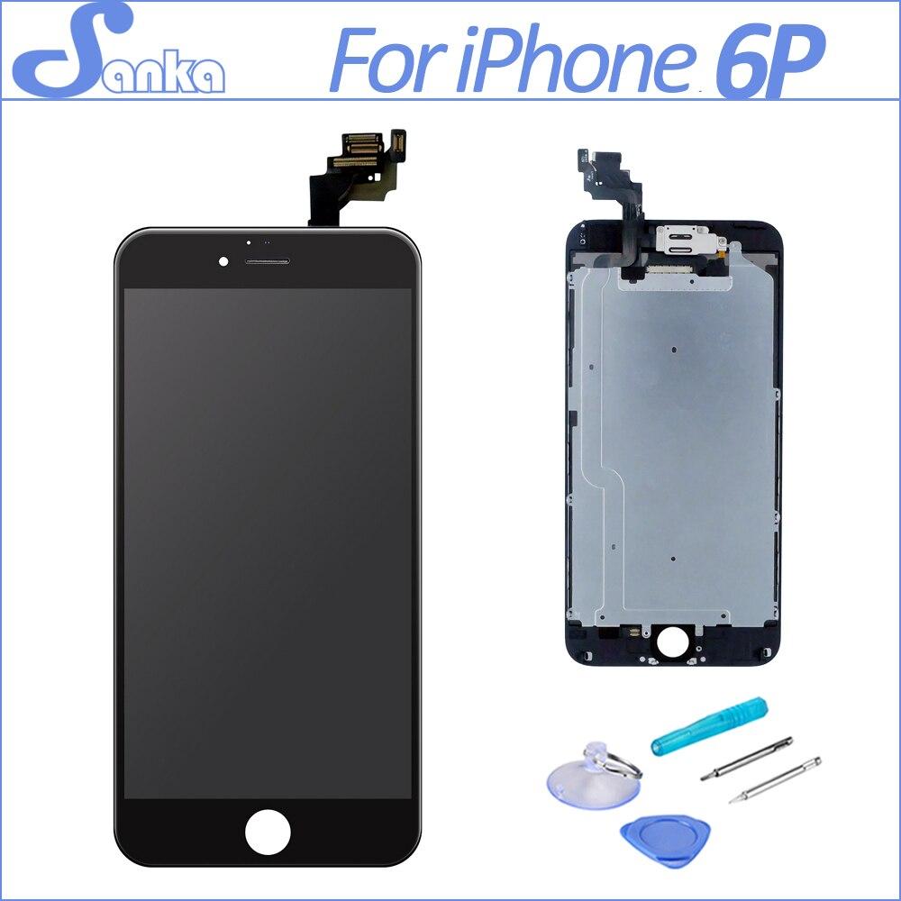 SANKA Para iPhone 6 Más Pantalla LCD de Pantalla Táctil Digitalizador Del Sensor