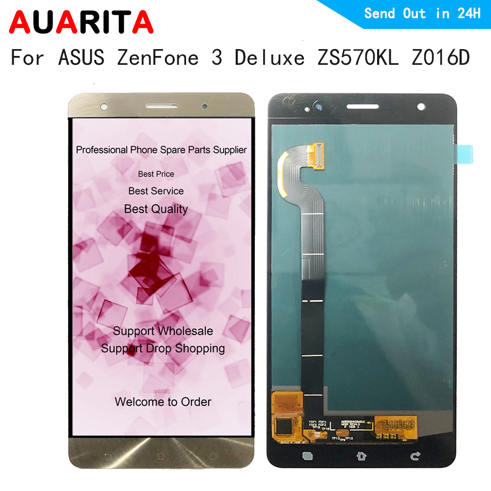 for ASUS ZenFone 3 Deluxe ZS570KL Z016D LCD Display+Touch Screen Replacement Digitizer Assembly for ASUS ZenFone3 Del displayfor ASUS ZenFone 3 Deluxe ZS570KL Z016D LCD Display+Touch Screen Replacement Digitizer Assembly for ASUS ZenFone3 Del display