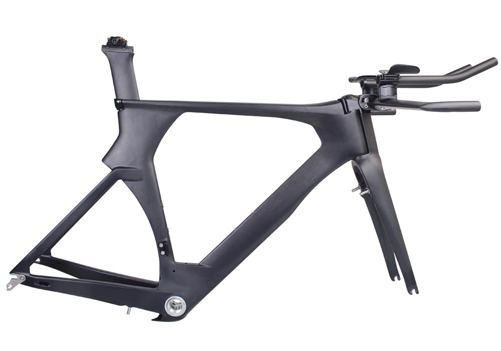Light Carbon new model TT Frame with aero Seatpost brake Time Trail ...