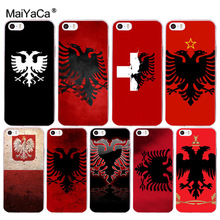 MaiYaCa Albania Russia flag Transparent Cover Case for Apple iPhone 8 7 6 6S Plus X 5 5S SE 5C 4 4S Cover(China)