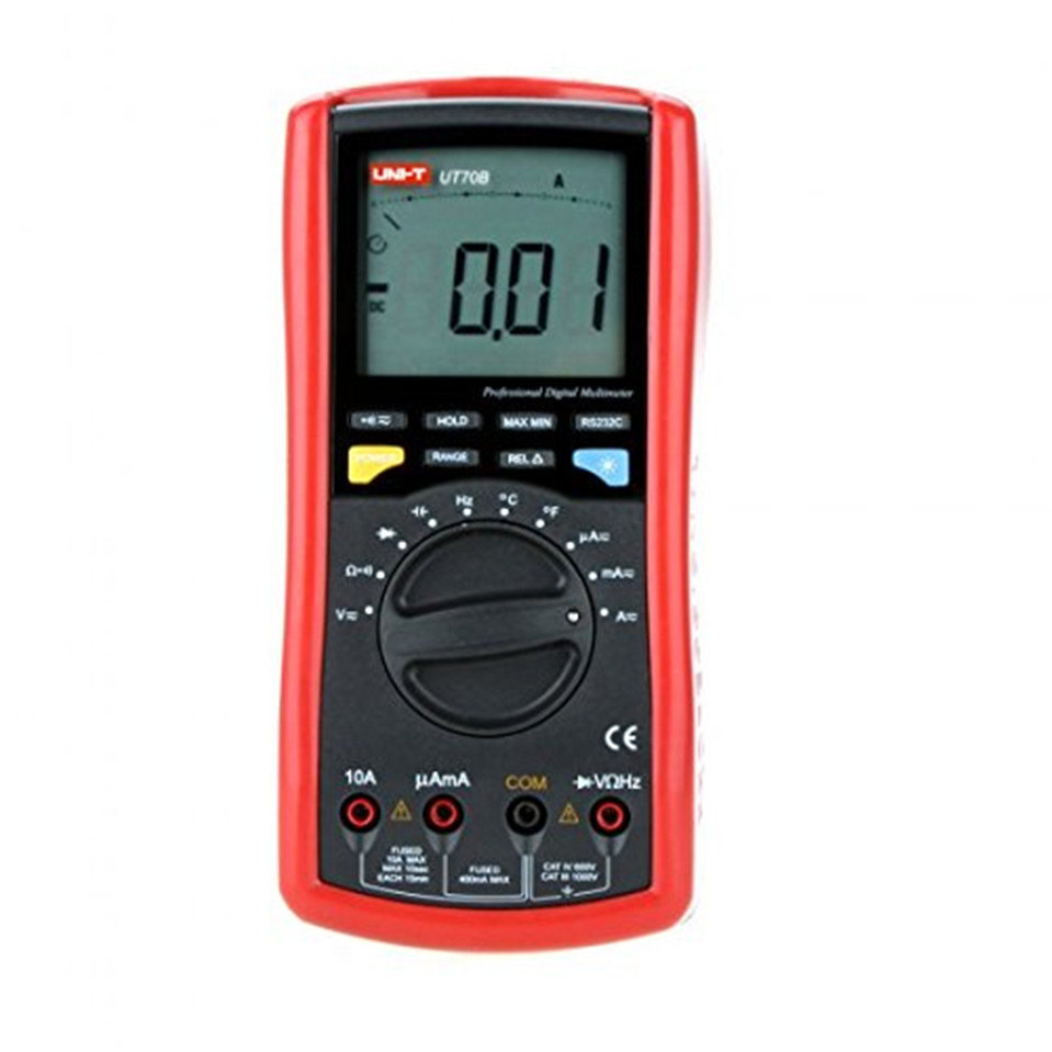 Original UNI-T UT70B LCD Digital Multimeter Auto Range frequency conductance logic test transistor temperature analog display my68 handheld auto range digital multimeter dmm w capacitance frequency