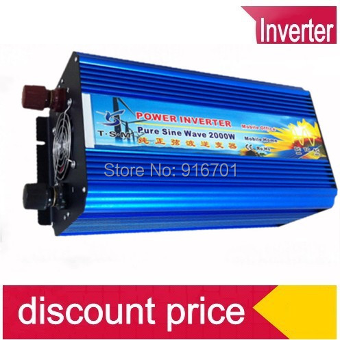 цена на DHL FEDEX UPS express 2000W Pure Sine Wave Inverter DC to AC 4000 Watt Peak Power, Off Grid Wind Solar System Inverter