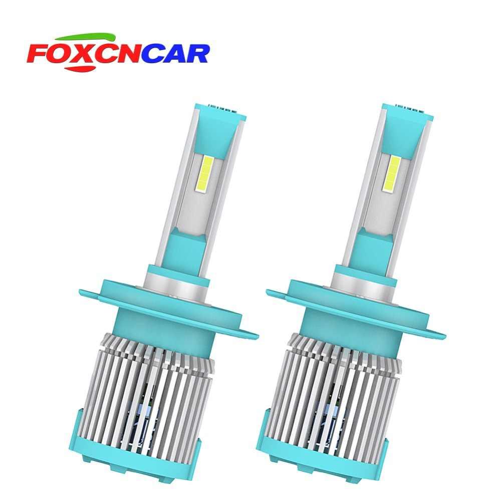 Foxcncar 2 Pcs Car Headlight H7 LED H4 H1 H3 H8 H11 1860 chip 72W 8000LM Auto Headlamp 6500K Light Bulb IP67 9006 9005 HB3 HB4