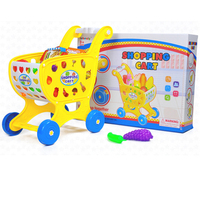 Supermarket Shopping Cart Toy Simulation Food Sets for Baby Children Pretend Play Game Plastic Shopping Trolley Girls Gift