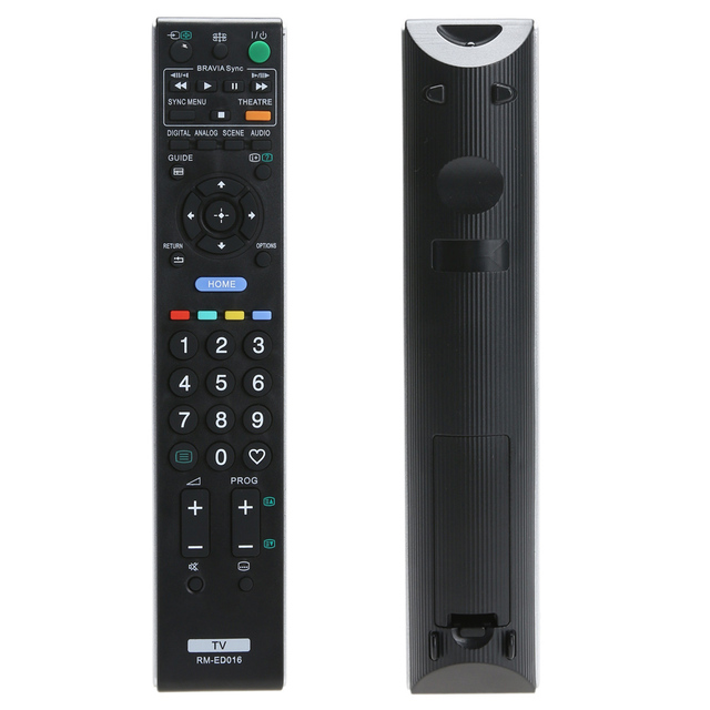 High grade remote control For Sony RM ED016 Replacement Remote Controller for Sony TV RM ED016 tv control remote