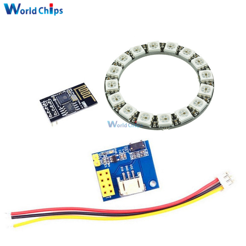 Integrated Circuits Esp8266 Esp-01 Esp-01s Rgb Led Controller Adpater Wifi Module For Arduino Ide Ws2812 Ws2812b 16 Bits Light Ring Christmas Diy