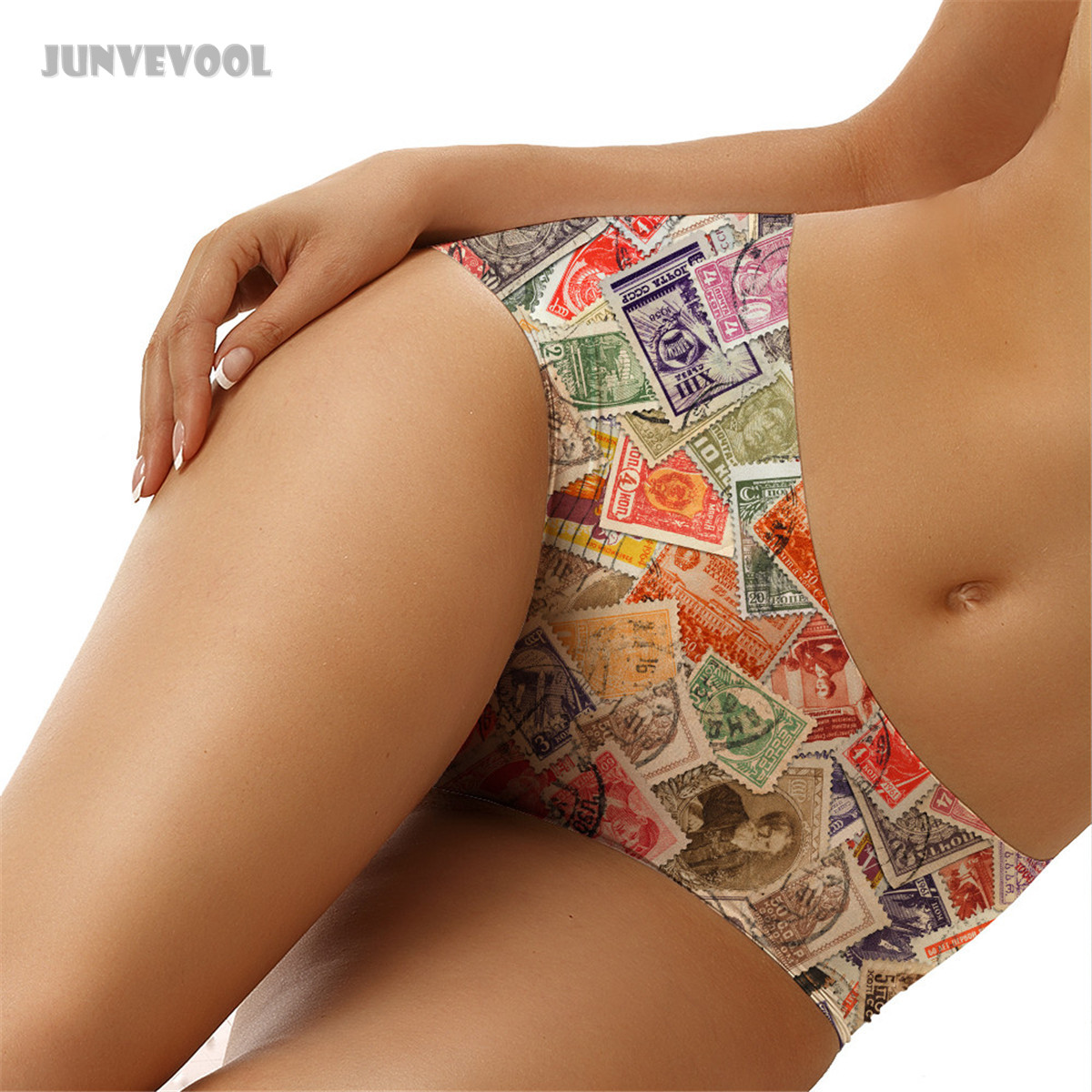 Buy Lingerie Sexy 2018 Fashion Women Knickers Hot Sale Womens Panties 3D Stamp Collection Printed Tattoo Briefs Underwear Gift
