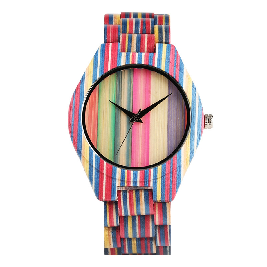 Hot Fashion Full Wooden Quartz Watch Colorful Zebra Bamboo Wristwatches Male/Female Style Best Love Gift for Women Men Couple ...