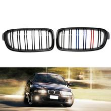1 Pair Front Kidney Grille for BMW F30 F35 12-15 Car Racing Grille Black High Quality Auto Car Accessory Racing Grills Promotion
