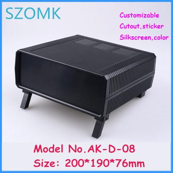 szomk plastic enclosure for electronics distribution box (10 pcs) 200*190*76mm enclosure case desk top project box junction box
