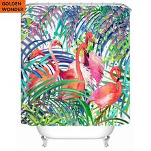 Beautiful High Quality Shower Curtain Polyester Customized Bathroom Curtains Thickened Waterproof Polyster