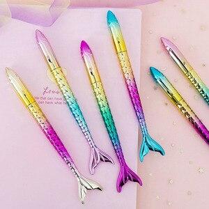 1 шт. милые ручки русалки Kawaii шариковые ручки креативные градиентные шариковые ручки для детей школьные офисные принадлежности корейские канцелярские принадлежности