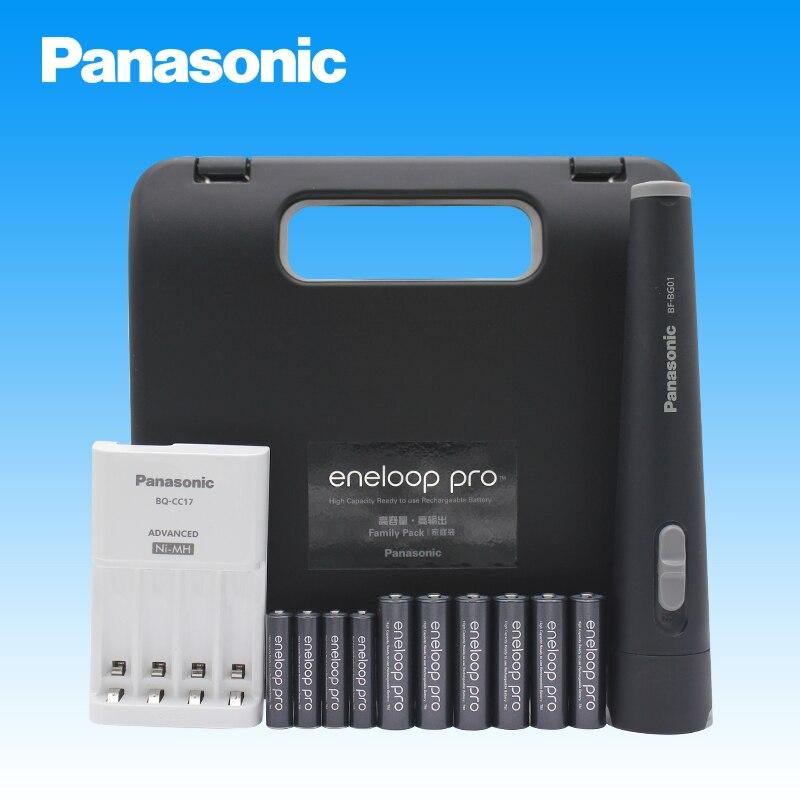 100% Original Panasonic Toolbox Sets 1.2V NI-MH 6PCS AA Rechargeable Batteries+4PCS AAA Rechargeable Battery+Charger+Flashlight