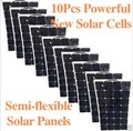 10pcs/carton 100W Sunpower flexible solar panel for 12v and 24v battery system