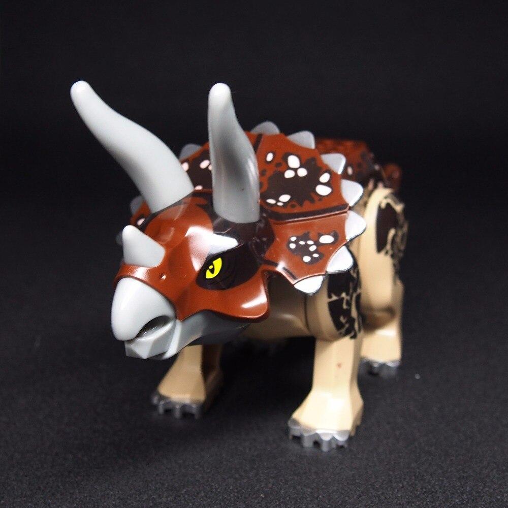 Triceratops Super Tyrannosaurus rex Mini Jurassic Dinosaur Bricks Figures Building Blocks Super Heroes font b toys