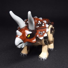 Triceratops Super Tyrannosaurus rex Mini Jurassic Dinosaur Bricks Figures Building Blocks Super Heroes toys
