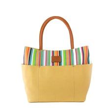 Оригинальная парусиновая женская сумка разных цветов в полоску с вышивкой, модная сумка-тоут с шестью шелковыми карманами, женские дизайнерские сумки