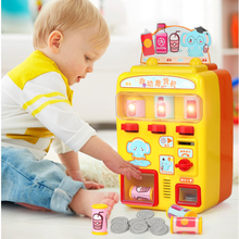 Simulation Automatic Talking Vending Machine Toys Kids Pretend Play Beverage Shopping Toys Gift Children's Play House Toy
