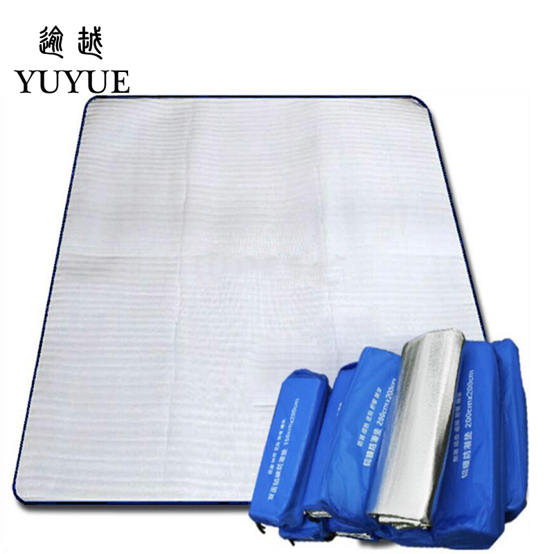 200*200cm Double-sided Aluminum Film Moistureproof Mat Tavel Mat For Tourist Camping Tent Beach Blanket Mat Camping Equipment  0