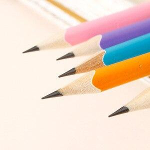 Image 4 - 100 قطعة HB القياسية مثلث قلم رصاص الرسم المهنية جودة خشبية قلم رصاص طالب المدرسة هدية
