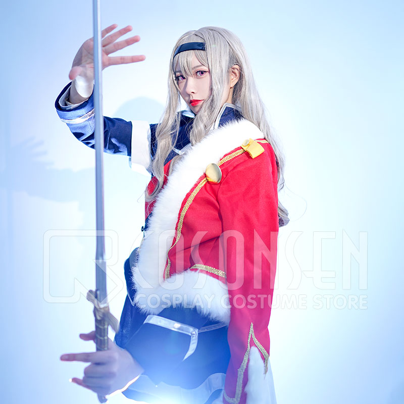 Shoujo Kageki Revue Starlight Claudine Saijo Uniform Cosplay Costume new Full Set All Sizes COSPLAYONSEN adult