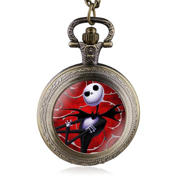 New Arrival Fashion Nightmare Before Christmas Pocket Watch Necklace Steampunk P