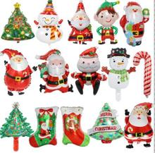 Christmas Mall Hotel KTV Decoration Supplies Snowman Old Snowflake Tree Aluminum Balloon Package