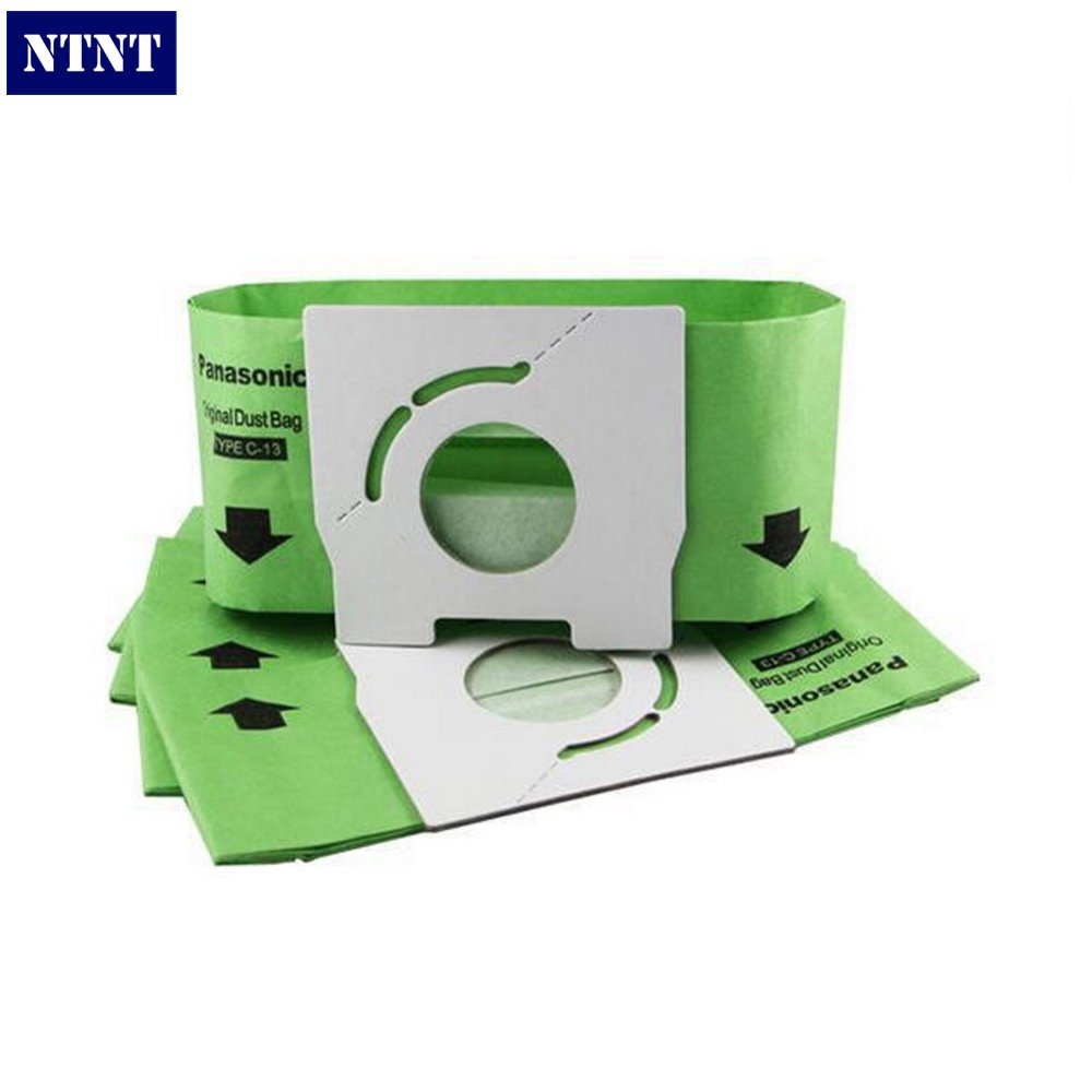 NTNT 10 pieces/lot Vacuum Cleaner Bags Dust Bag C-13 Paper Bags Replacement for Panasonic MC-CA291 MC-CA391 MC-CA301 30pcs lot replacement vacuum cleaner bags dust collector paper bags for vacuum cleaner mc cg321 ca291 ca391c 13 bag parts
