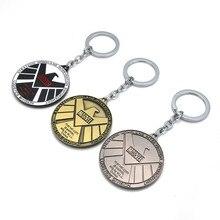 Avengers of SHIELD Keychain Toys Shield Badge Pendant Marvel The Avengers Logo Sign Key Chain Action Figures Toys