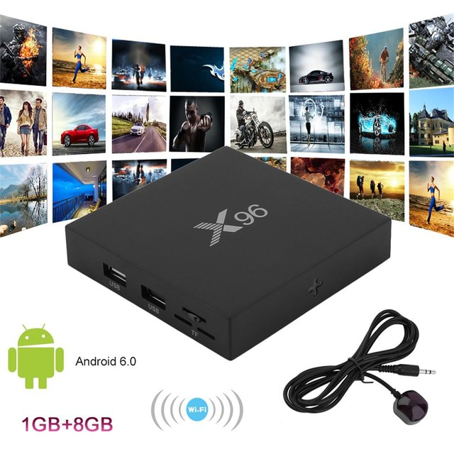 Network Function X96-16GB Tv Box 4k Movies Sports For Android 6.0 Mali-450MP 5 Core