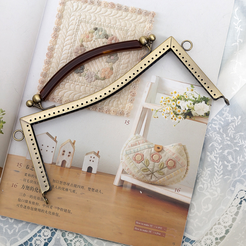 Large DIY Handmade Party Bag Handle Buckle Metal Frame Kiss Clasp ...