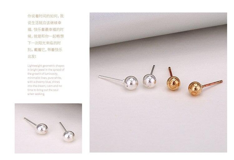 Minimalistische Oorbellen Zilver : Paren set geometrische kleine stud oorbellen zilver goud kleur