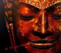 Handmade oil painting : portrait of Handmade Buddha Mahapurusa