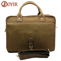 Joyir New top sell men's mad horsehide briefcases Computer simple Handbag European Trend Tote business bag office bags for men