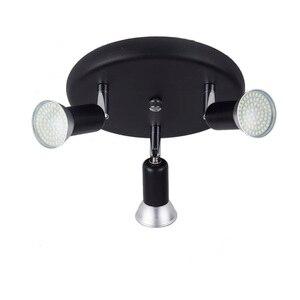 Image 2 - Lámpara de techo nórdica giratoria led, para Loft, cocina, dormitorio, luces colgantes, ángulo ajustable, accesorio de luz colgante