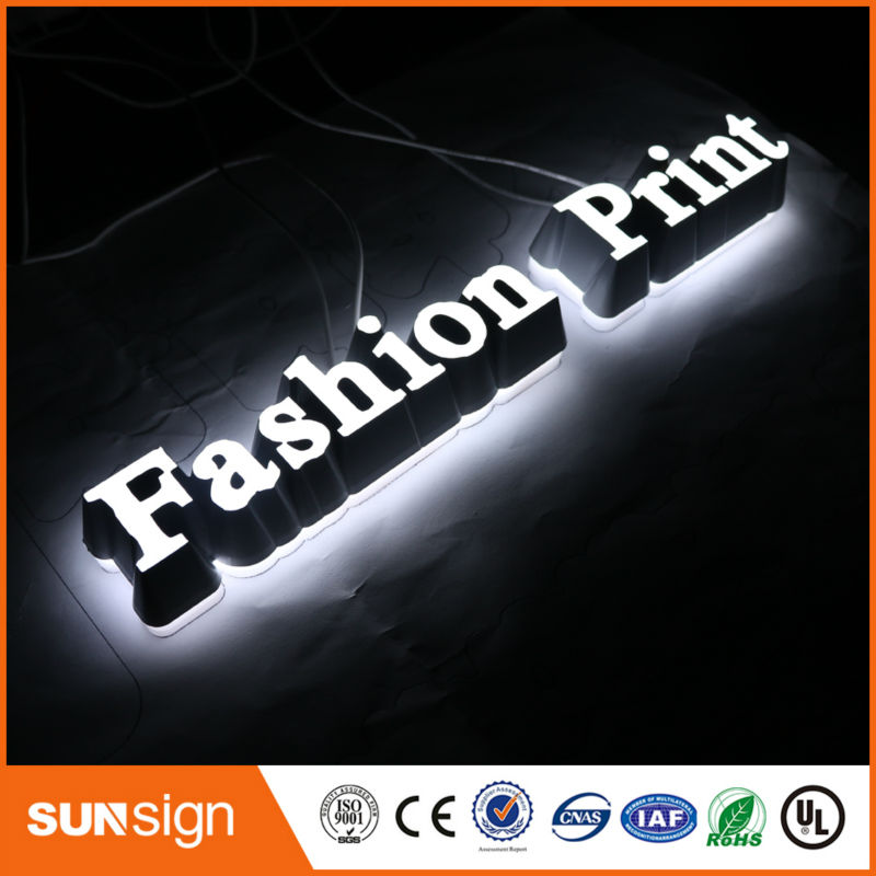 Custom Fashion Led Hair Cuts Sign