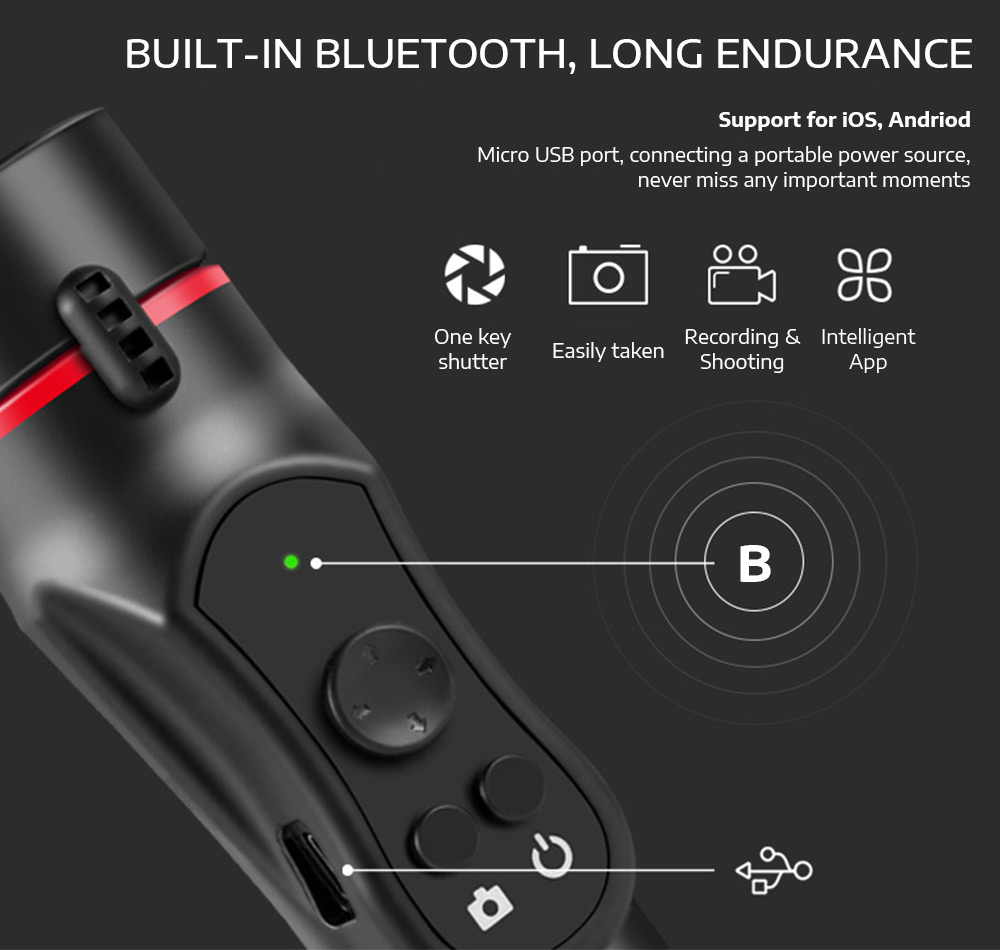 Detail Feedback Questions about Ledistar H2 3 Axis Handheld Gimbal