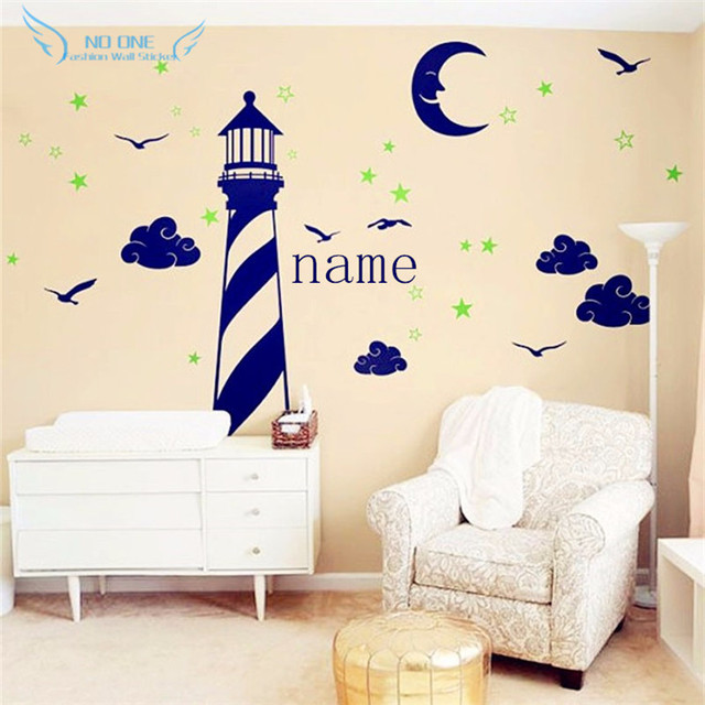 Aliexpresscom Buy Personalized Name Vinyl Wall Decal Lighthouse - Lego wall decals vinylaliexpresscombuy free shipping lego evolution decal wall