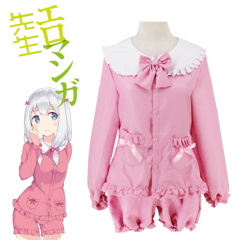 New Eromanga Sensei Anime Izumi Sagiri Cosplay Costume Wig Japanese Anime ink Uniform Suit Outfit Clothes Top &Pants