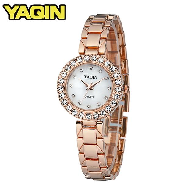 YAQIN Women's Elegant Fashion Bracelet Quartz Watch Top Luxury Brand Relogio Fem