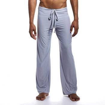 2019 nowe seksowne męskie spodnie do jogi lodu piżamy mężczyzn spać dna bielizna nocna domu piżamy noc do kąpieli spodnie ubrania 6 kolory tanie i dobre opinie Mężczyźni Nylon Poliester Stałe Jersey