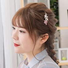 Minimalist Faux Pearl Frog Bobby Pins Women Girls Sweet Contrast Color Acetate Starfish Hair Clip Posterior Decorative Barrettes lace contrast faux pearl self tie top
