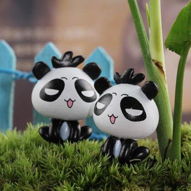 New Micro Decoration Ornament Mini Cute Cartoon Sitting Panda Model DIY  Micro Garden Plant Accessories Material