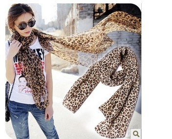 Hot sale  wholasale 3pcs/lot Autumn and winter female long design silk scarf classic leopard print scarf leopard print scarf