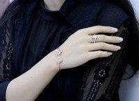 ZOZIRI brand classic zircon charms small key bracelet bangle fashion women 925 sterling silver Famous replica bracelet jewelry