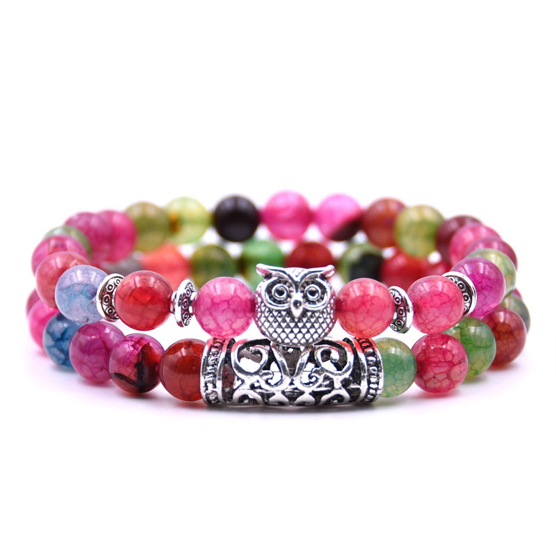 Bracelet de distance couple femme rose