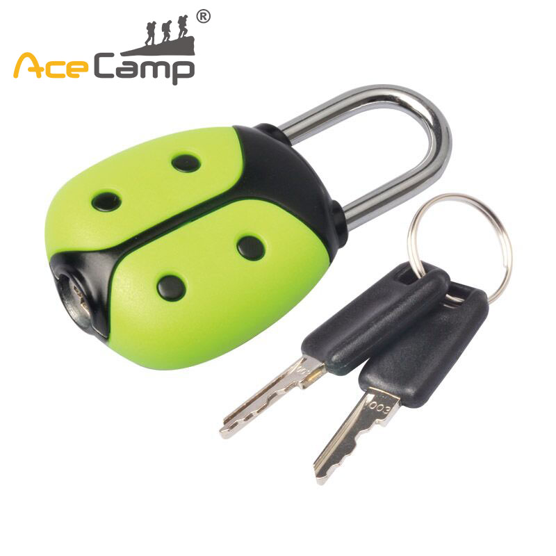 AceCamp Luggage Strap Locks Beatle Zinc Alloy Password Customs Luggage Padlocks Combination Suitcase Padlock Travel Lock
